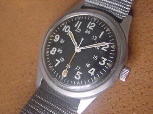 Vintage Benrus Military Issue Wrist Watch ..... GG W 113 ......... Vietnam Era