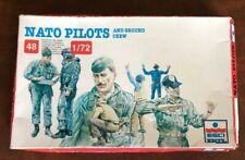 ESCI ERTL 1/72 Figurines 243 Nato Pilots Ground Crew Pilote Piste Staff Neuf