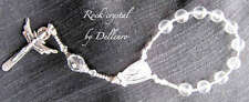 ✫ROCK CRYSTAL✫  HAND CRAFTED  ONE DECADE  ROSARY CHAPLET