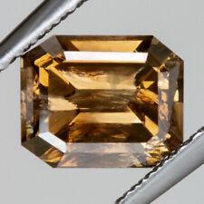 1.68 COGNAC EMERALD CUT NATURAL DIAMOND UNTREATED FANCY CHAMPAGNE BROWN ORANGE