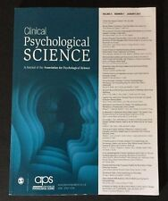 Clinical Psychological Science Volume 5 Number 1 January 2017 aps Magazine