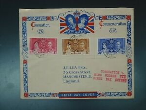 BERMUDA - 1937 CORONATION ILLUSTRATED FDC (CVR.A1)
