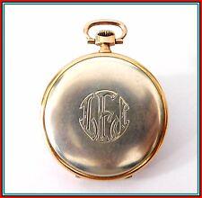 ORIGINAL Vintage LONGINES Pocket Watch SILVER & 14k GOLD Cal 18.26 ABC Savonette