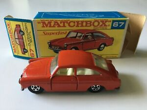 Matchbox Transitional SF #67 Volkswagen 1600TL Original Red Script F Box Lot Z6