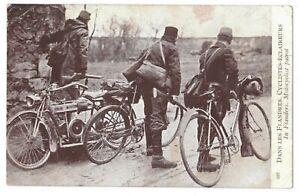 ** TOP CPA, Guerre 14/18, Cyclistes Eclaireurs dans les Flandres