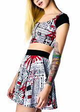 LIP SERVICE RARE JAPANESE ROCKABILLY PUNK RAVE GOTH GOTHIC EMO CROP TOP SHIRT XS