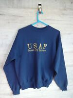 vtg 90s 80s USAF US Air force HANES sweatshirt sweater jumper refA8 Medium