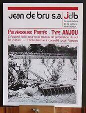 ▬►Prospectus Pulvérisateurs  Portés Type Anjou JDB Jean de Bru Someca Massey IH