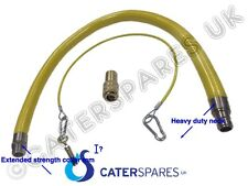 CATERHOSE COMMERCIAL CATERING EQUIPMENT YELLOW GAS HOSE FLEX 3/4 KIT 1 METRE