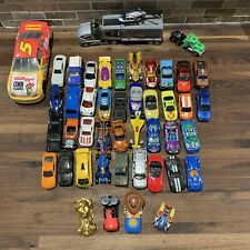 Mixed Lot of 45 Hot Wheels Matchbox Loose Diecast & Plastic Cars Trucks Vehicles