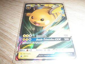 Carte Pokémon Raichu GX sm213 100% Neuve Destinees occultes