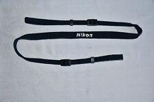 Nikon Japón genuino negro correa para el hombro cuello estrecho () para cámara SLR utilizado * n 58 *