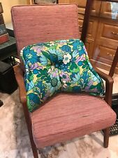 Vintage 1960s Pillow Reading Back Support in Bed Mid Century Floral Pattern 60s