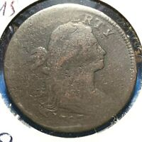 1797 1C Draped Bust Cent, Stems, Reverse of 97, S-139, R-1 (54789)