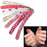 10Pcs Double Sided Nail Emery Boards Files Buffer Salon J3Q5 Pedicure-Manic N4R3
