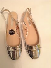 PRIMARK ATMOSPHERE LADIES GOLD FLAT SLINGBACK SHOES SIZE 5/38 NEW