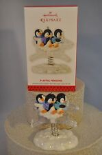 Hallmark - Playful Penguins - 3 Penguins Riding Ice Reindeer - Series Ornament