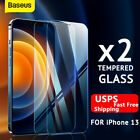 Baseus 2-Pack For iPhone 13 Pro Max 12 11 Tempered Full Glass Screen Protector