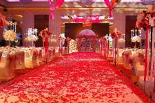 100PCS RED SILK ROSE PETALS FLOWER CONFETTI WEDDING ENGAGEMENT DECORATION GW
