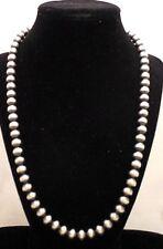 Handmade Sterling Silver Navajo Pearls (Pendant Sold Separately)
