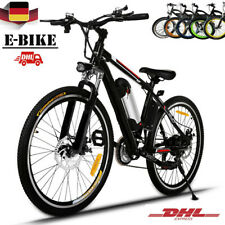 26 Inch Men's Electric Mountain Bike Outdoor Riding 21 Speed Bicycle Steel Frame