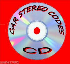 CAR AUDIO/RADIO STEREO CODE RECOVERY SOFTWARE UNLOCK PROGRAM SOLUTIONS CD
