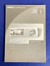 Uniden Bcd-996T original Owner's manual Police Scanner New P25 Digital Trunking
