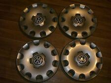 "VW Beetle 15"" wheel trims hub caps wheel covers, 4x, full set, genuine"
