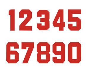 Iron-On Heat Transfer Vinyl Red Bold Number Football Baseball Sports Kid T-Shirt