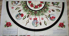 Woodland Holiday Christmas Tree Skirt Fabric  TWO Panels  #2106