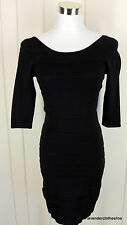 MNG Suit S Black Stretch Bandage Body Con Wiggle Club Party Dress
