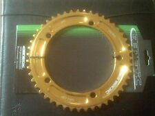 "47 TOOTH GOLD ANODISED 144BCD 1/8"" TRACK PISTA CHAINRING"