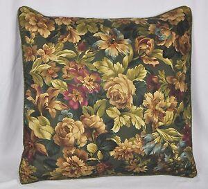 "Corded Accent Pillow Sham made w Ralph Lauren Edgefield Green Floral Fabric 24"""