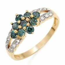 Genuine Diamond Ring 14K Solid Yellow Gold