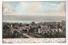 [53899] 1907 POSTCARD BIRDSEYE VIEW OF YONKERS & PALISIDES, NEW YORK