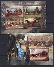 Burundi 2012 - Pferdekutschen Postkutschen Gemälde Pferde Kutschen Hippomobiles