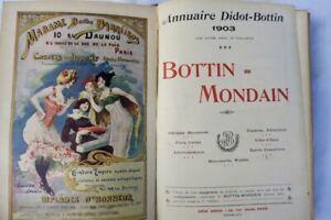 BOTTIN MONDAIN. ANNUAIRE DIDOT-BOTTIN. 1903 première année