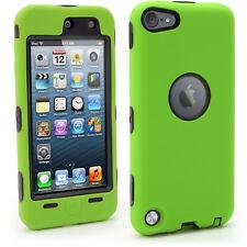 Verde Dura Trasero y Verde Silicona Funda para Apple iPod Touch 5ta/6ta Gen