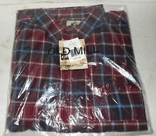 Old Mill Plaid Flannel Long Sleeve Button Down Shirt Men's 2XL Chest Pocket NEW
