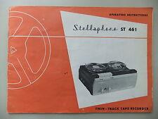 Instrucciones carrete a carrete de cinta reproductor stellaphone St 461 CD/correo electrónico