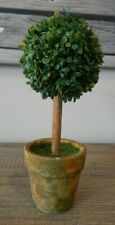 FAUX ARTIFICIAL POTTED SINGLE BALL TOPIARY TREE DECORATIVE ORNAMENT