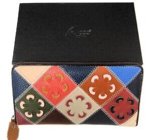Portafoglio donna in vera pelle borsellino artigianale cerniera