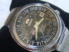 RARE JUMBO SIZE 70'S ORIENT WORLD DIVER WORLD TIME GMT DIVER AUTOMATIC     *6579