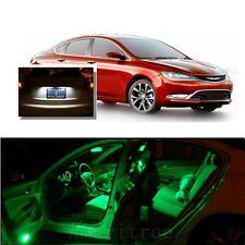 For Chrysler 200 2015-2016 Green LED Interior Kit +Xenon White License Light LED