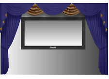Saaria Velvet Curtains Movie Screen Home Theater Stage Event 8'WX8'H Wall Cover