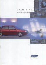 Fiat Tempra Saloon & SW 1.4 1.6 1.8 1.9D Tds 1991-92 original UK Sales Brochure