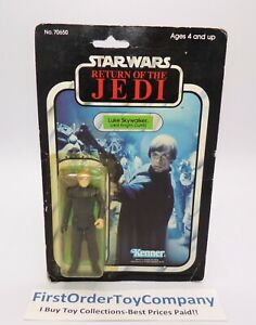 Vintage Star Wars 77 Back Luke Skywalker Jedi Figure MOC NEW SEALED