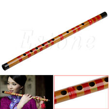 Traditional Long Bamboo Flute Clarinet Student Musical Instrument 7-Hole 42.5cm