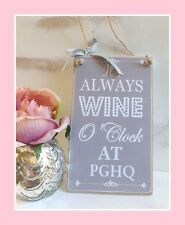 Alcohol Sign HANGING PLAQUE Personalised Friend/Family Gift Grey