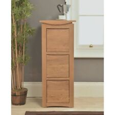 Crescent Solid Oak Office Storage Furniture Three Drawer Filing Cabinet